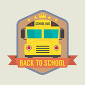 Back to School Badge Vector Illustration — Vecteur