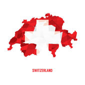 Map of Switzerland Vector Illustration  — ストックベクタ