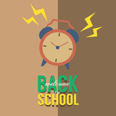 Back to School Concept Vector Illustration — Stock Vector