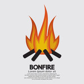 Isolated Bonfire Graphic Vector Illustration — Vecteur