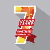 7 lat rocznica celebracja — Wektor stockowy