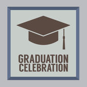 Flat Design Graduation Celebration Vector Illustration — Stock Vector