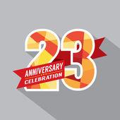 23 yıl yıldönümü kutlama tasarım — Stok Vektör