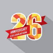 26th Years Anniversary Celebration Design — Stock Vector