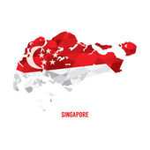 Map of Singapore Vector Illustration  — Stock Vector