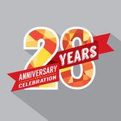 28th Years Anniversary Celebration Design — Stock Vector
