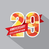 29th Years Anniversary Celebration Design — Stock Vector