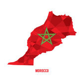 Map of Morocco Vector Illustration  — Stock Vector
