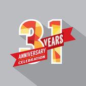 31st Years Anniversary Celebration Design — Stock Vector