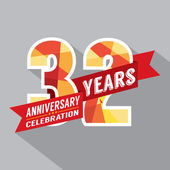 32nd Years Anniversary Celebration Design — Stock Vector