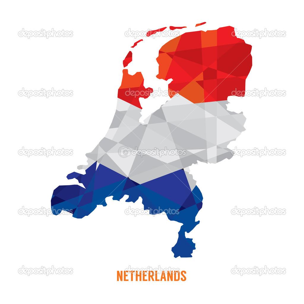 匹配的荷兰矢量图电子地图
