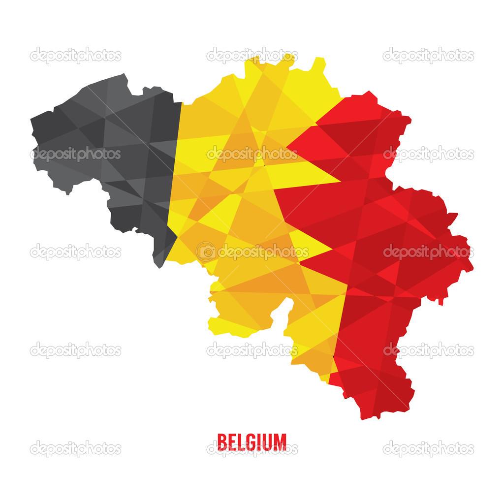 匹配的比利时矢量图电子地图