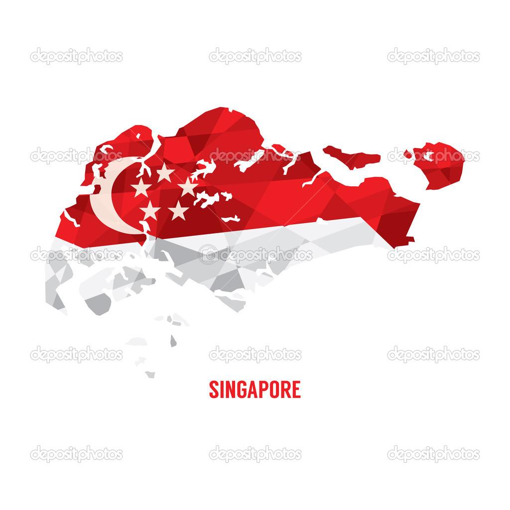 匹配的新加坡矢量图电子地图