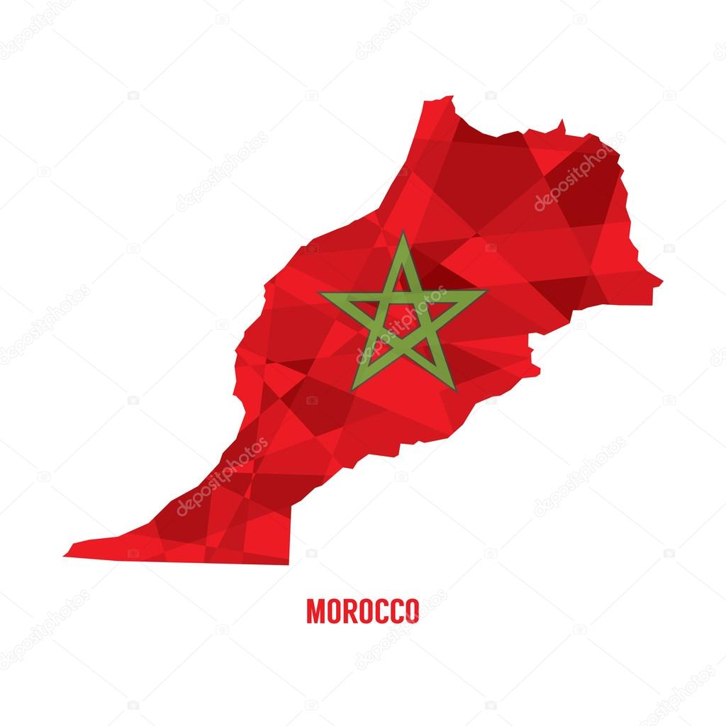 匹配的摩洛哥矢量图电子地图