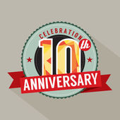 10th Years Anniversary Celebration Design — Stock Vector