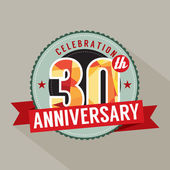 30th Years Anniversary Celebration Design — Stock Vector