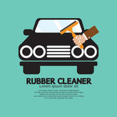 Rubber Window Cleaner Vector Illustration — Stock Vector