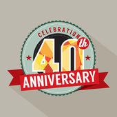 40 lat rocznica celebracja — Wektor stockowy
