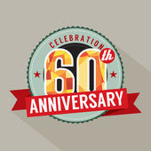60. yıl yıldönümü kutlama tasarım — Stok Vektör
