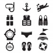 Diving Icon Set Vector Illustration — Stock Vector #49862461