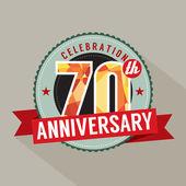 70 lat rocznica celebracja — Wektor stockowy