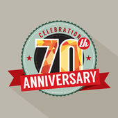 70th Years Anniversary Celebration Design — Stock Vector