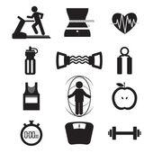 Fitness Icon Set Vector Illustration — Vector de stock