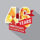46th Years Anniversary Celebration Design — Stock Vector