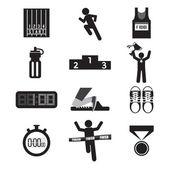 Sport Icon Set Vector Illustration — Stock Vector