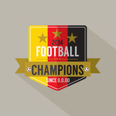 Soccer or Football Champions Badge — Stock Vector