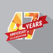 47th Years Anniversary Celebration Design — Stock Vector