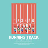 Top View Running Track Vector Illustration — Stock Vector