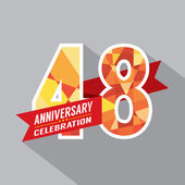 48th Years Anniversary Celebration Design — Stock Vector