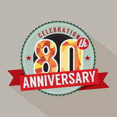 80th Years Anniversary Celebration Design — Stockvector
