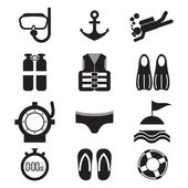 Diving Icon Set Vector Illustration — Stock Vector