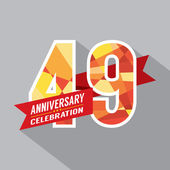 49th Years Anniversary Celebration Design — Vector de stock