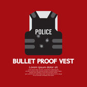 Bullet Proof Vest Vector Illustration — Stock Vector