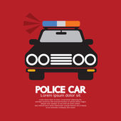 Front View Of Police Car Vector Illustration — Vecteur