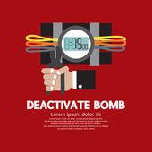 Deactivate Bomb Graphic Vector Illustration — Vecteur