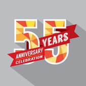 55th Years Anniversary Celebration Design — Vettoriale Stock