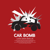 Car Bomb Graphic Vector Illustration — Stock Vector