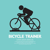 Bicycle Trainer Graphic Sign Vector Illustration — Stok Vektör