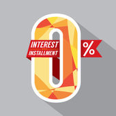 Zero Percent Interest Installment Vector Illustration — 图库矢量图片