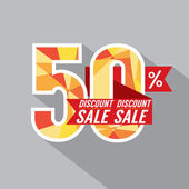 50 Percent Discount Vector Illustration  — Stock Vector