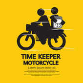 Time Keeper Motorcycle Vector Illustration — Stock Vector
