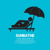 Sunbathe Black Graphic Vector Illustration — Stock Vector