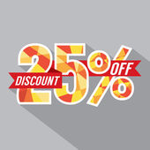 Discount 25 Percent Off Vector Illustration — Stock Vector