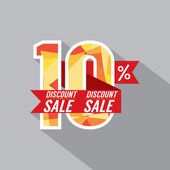 Discount 10 Percent Off Vector Illustration — Stock Vector