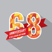 68th Years Anniversary Celebration Design — Vector de stock