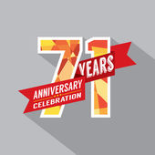 71st Years Anniversary Celebration Design — Vector de stock